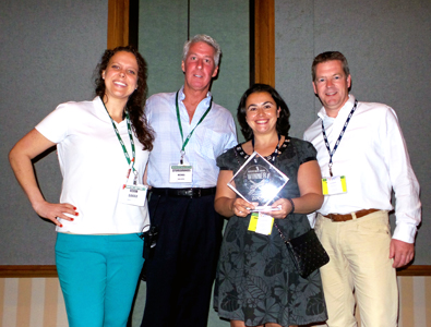 Pictured above, l to r: Sarah Sweitzer, ECRM's senior vice president of grocery; Michael Hatherill, Store Brands' group brand director; Ana Jimenez Aguilar, new business development, SanoRice; and Gert Hendriksen, commercial director, SanoRice.