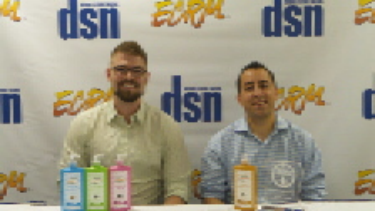 From left, David Simnick, CEO & Co-Founder, and Daniel Doll, President & COO of SoapBox Soaps, winner of Drug Store News' New Product Award at ECRM's 2015 Skin, Bath, Cosmetics & Fragrances event