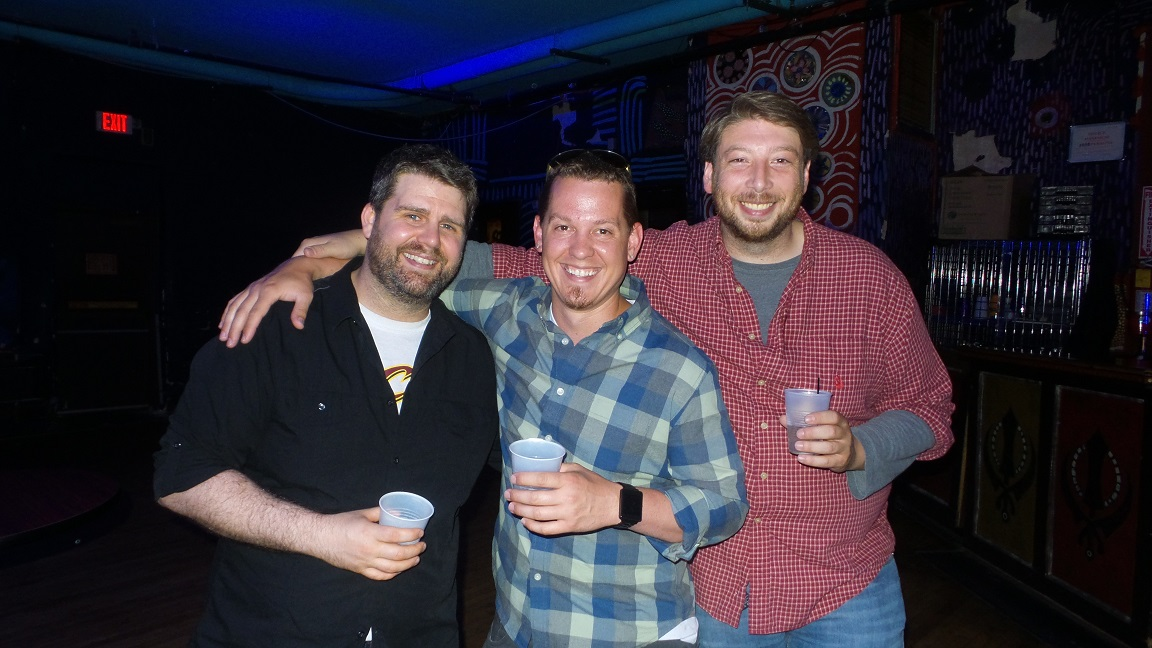 From left: ECRM's Josh Clyne, joe Wilt and Dan Natale