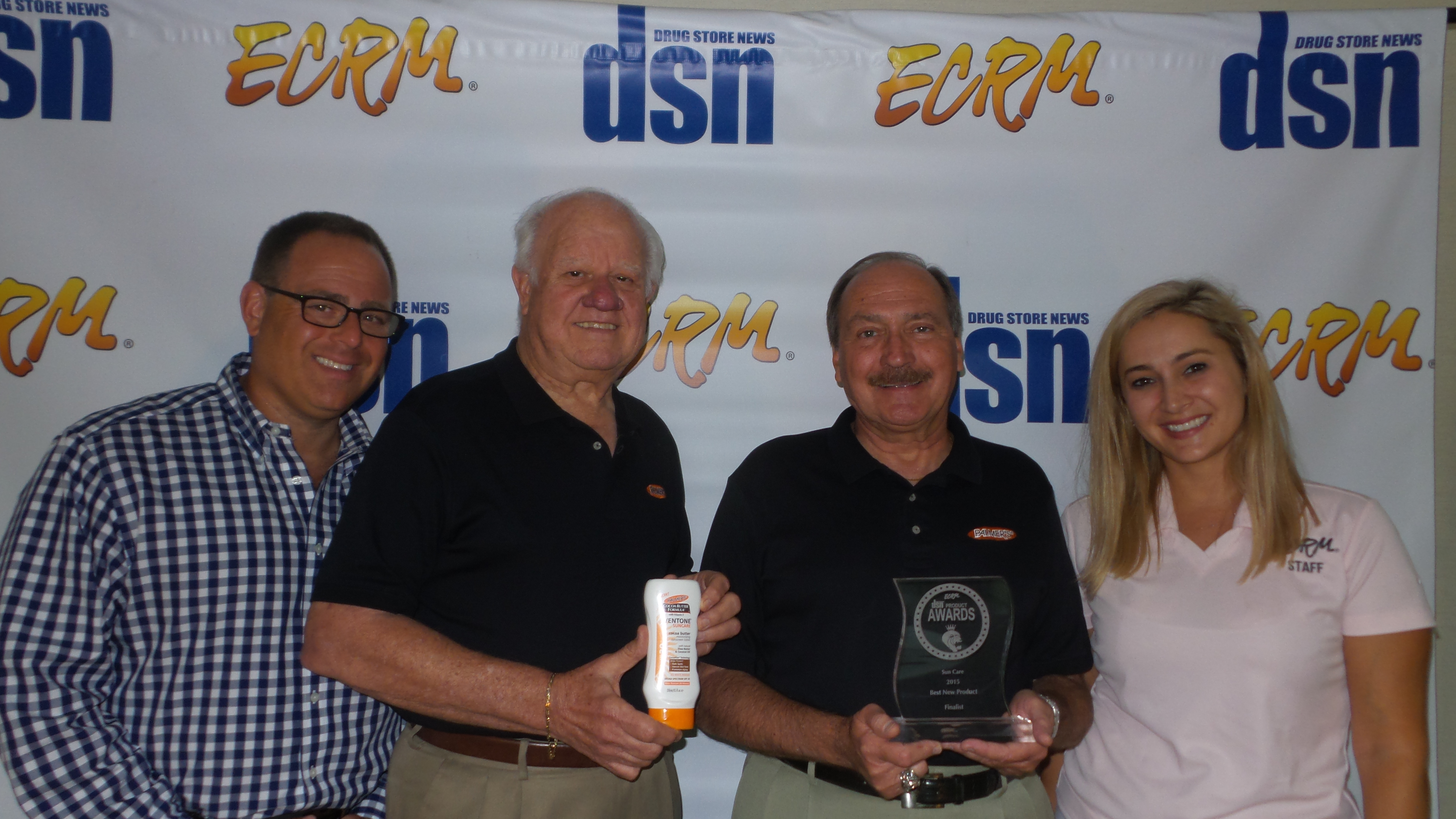 From left: Wayne Bennett, Publisher, Drug Store News; Gilberto Rodriguez, Regional Manager, E.T. Browne Drug Co.; Peter A. Au