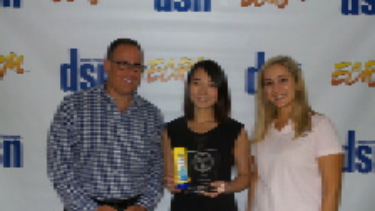From left: Wayne Bennett, publisher, Drug Store News; Nanqian (Nancy) Lu, Associate Brand Manager/Banana Boat, Edgewell Personal Care; and Sheena Sales, Sales Manager – HBC, ECRM