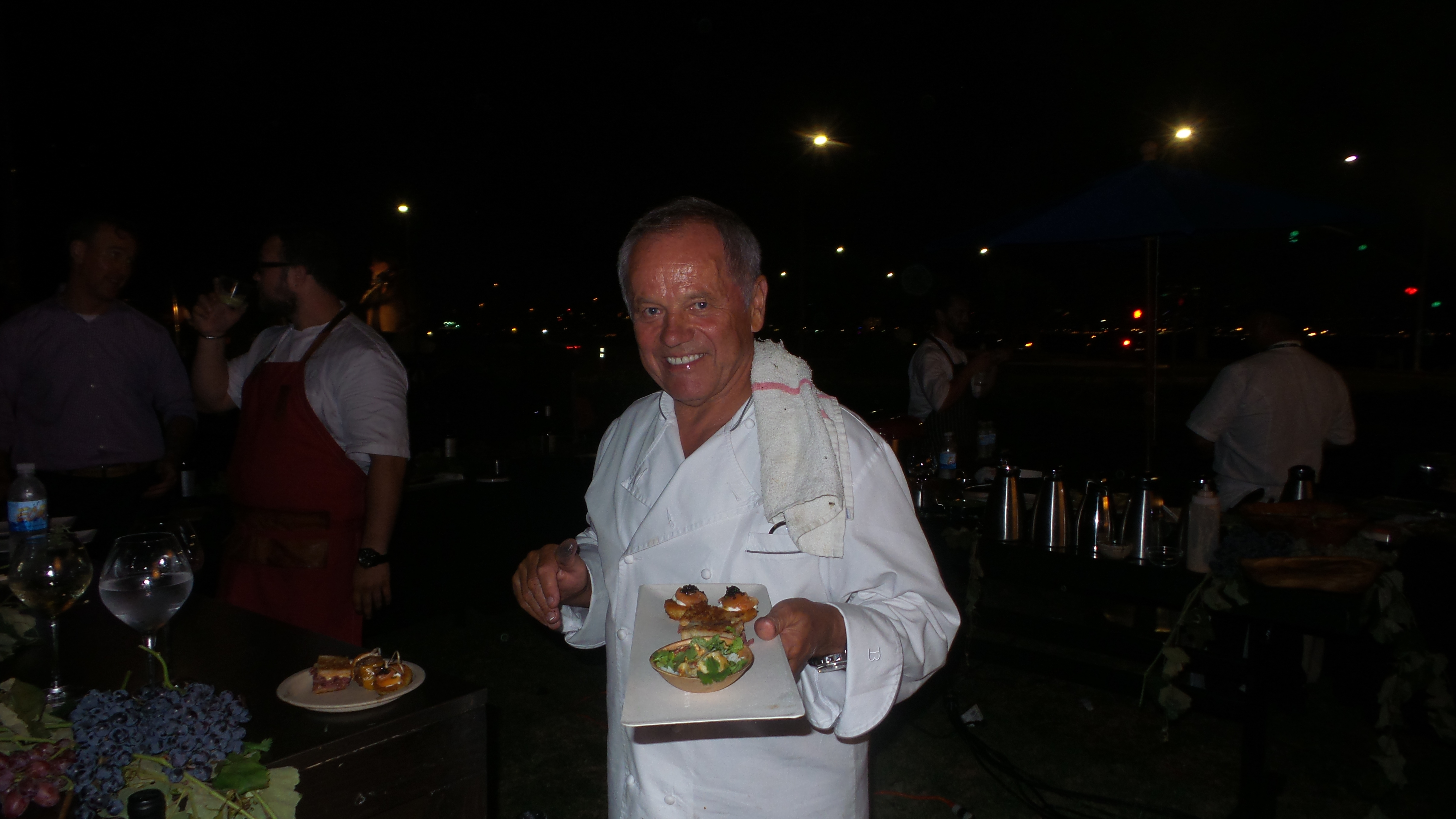 Wolfgang Puck prepared appetizers to paid with his four new varietals featured at the event