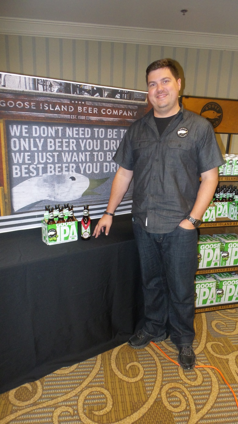 Andrew Osterman, Senior Manager, Vintage & Bourbon County, Goose Island Beer Company (Anheuser-Busch), winner of Attendees' C