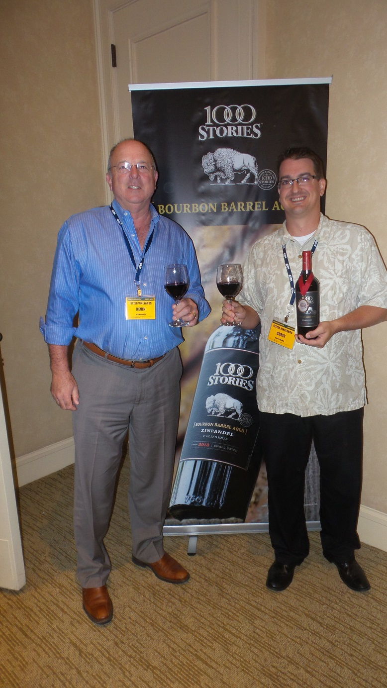 From left: Kevin Gorgen, Director of Chains, and Chris Tomandl, VP of Retail Chains, Fetzer Vineyards, winner of Attendees' C