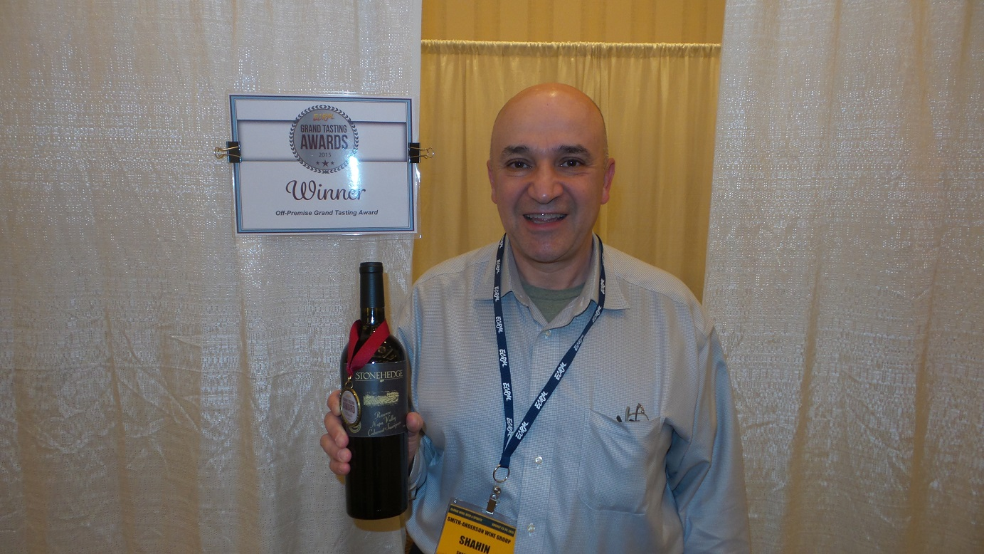Shahin Shahabi, President & CEO, Smith-Anderson Wine Group, winner of the Off-Premise Award