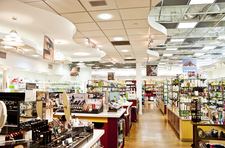Each Beauty Collection store has a very upscale look to showcase its prestige beauty products