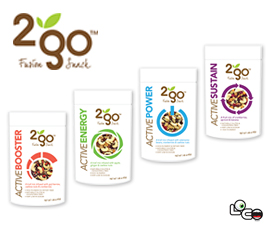 2 Go Fusion Snacks launches Active Trail Mixes with functional benefits by Loco Brands
