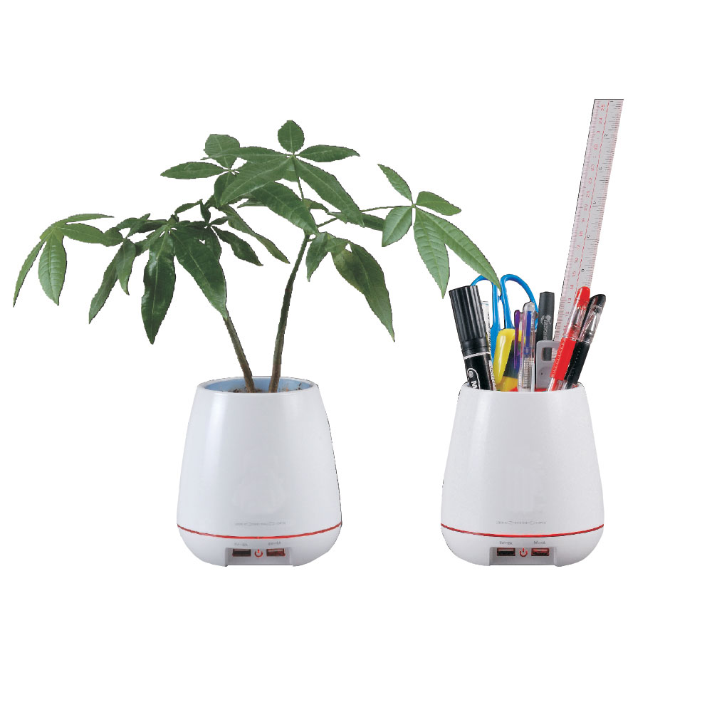 2 Port USB Fast Charger Desk Organizer/ Planter by Shaxon Industries