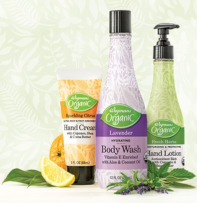 Wegmans launched their Wegmans Organic bath and body line this fall after three years of development.