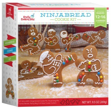 Gingerbread cookie mix, icing, candy beads & cookie cutters. Makes 12-16 gingerbread ninjas by Brand Castle