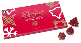 Milk Chocolate Christmas Shapes by Divine Chocolate