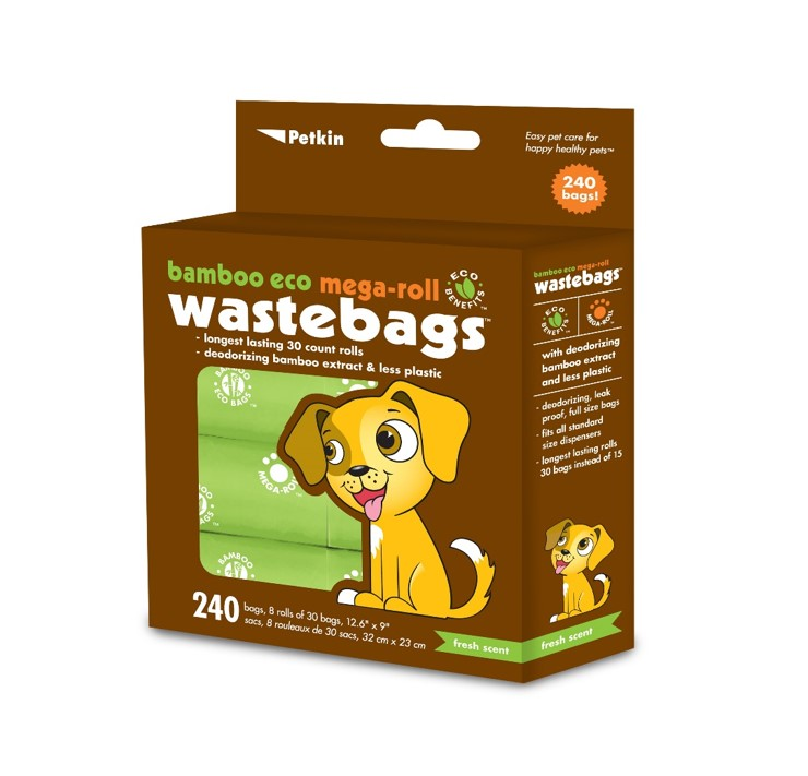 Bamboo Eco Mega-Roll Waste Bags by Petkin Inc.