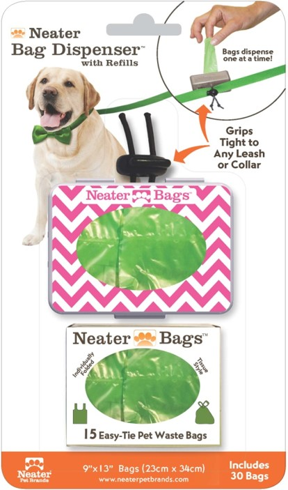 Tissue style pet waste bag dispenser-6 fun colors by Neater Pet Brands