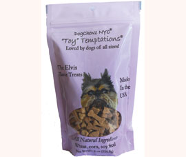 """Toy"" Temptations organic USA made dog treats by Dog Chewz NYC."
