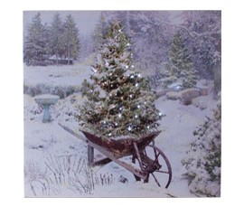 Lighted Winter Garden Canvas by Ohio Wholesale
