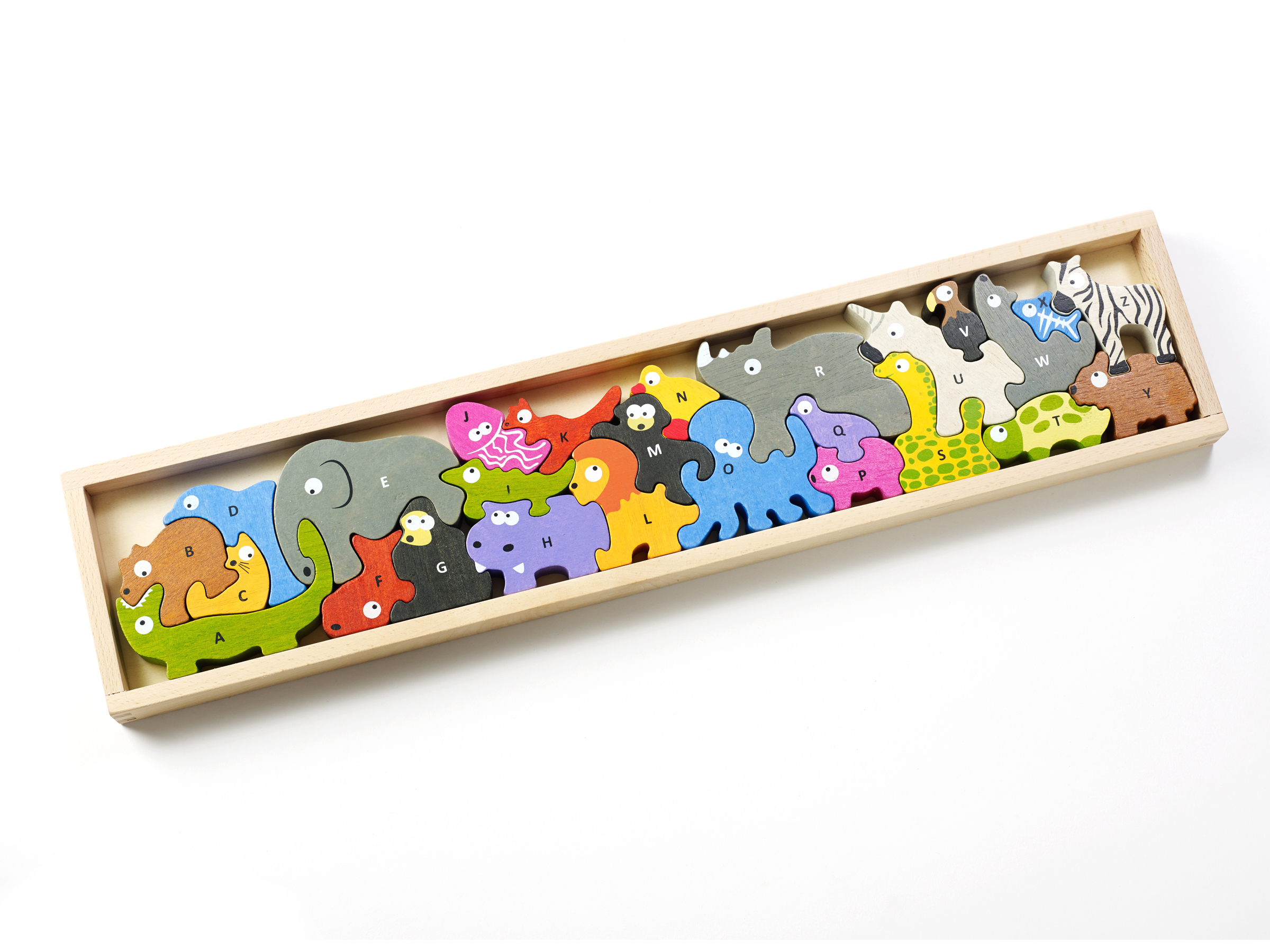 Animal Parade A to Z Wooden Puzzle (eco-friendly) by BeginAgain Toys