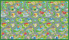 Happyville, Giant play surface. Easy to wipe clean by PlaSmart