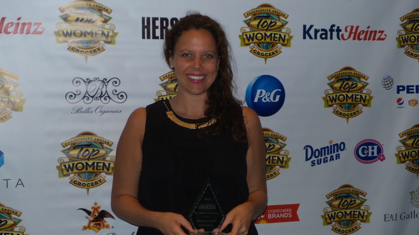 Swiz with her award.
