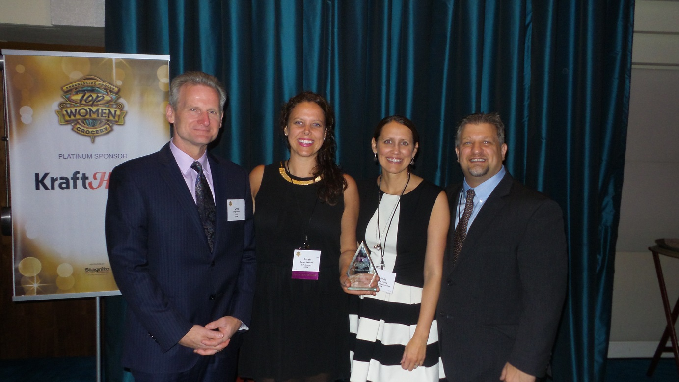 From left: Greg Farrar, Sarah Sweitzer, ECRM SVP of General Merchandise Melinda Young, and ECRM VP of Content Joseph Tarnowsk