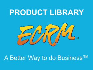 Prepare for your meetings with ECRM's Product Library tool.