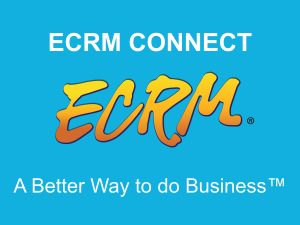 ECRM Connect can help you keep up with all of your meeting details while attending an event but it can also help you stay in touch with the industry all year round.