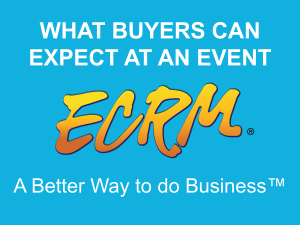 This video takes a look at what buyers can expect once they arrive at an ECRM event.  From meetings to networking opportunities, ECRM events have everything you need to streamline your business process.