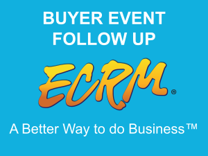 Send follow up emails, request completed retailer forms, review meeting notes and recap items of interest all from the ECRM Follow Up Site.  Watch the video to learn more!