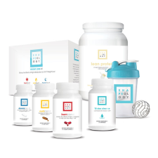 The Shapeology Kickstarter bundle packages several related products together under the weight loss theme. It includes a 15 Day Cleanse, 24/7 Weight Loss Kit, Lean Protein, a Bulu Box Blender Bottle plus a quick reference guide for using these products together.