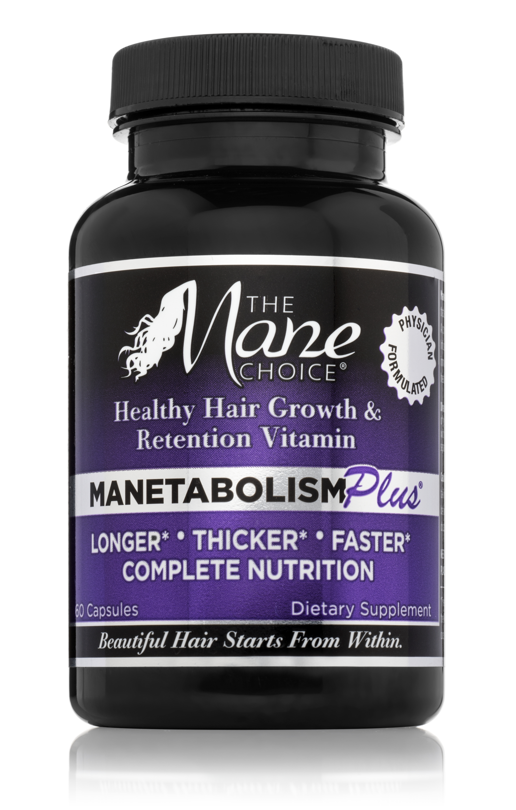 #1 rated multi-vitamin promoting longer, healthier hair by Mane Choice Hair Solution