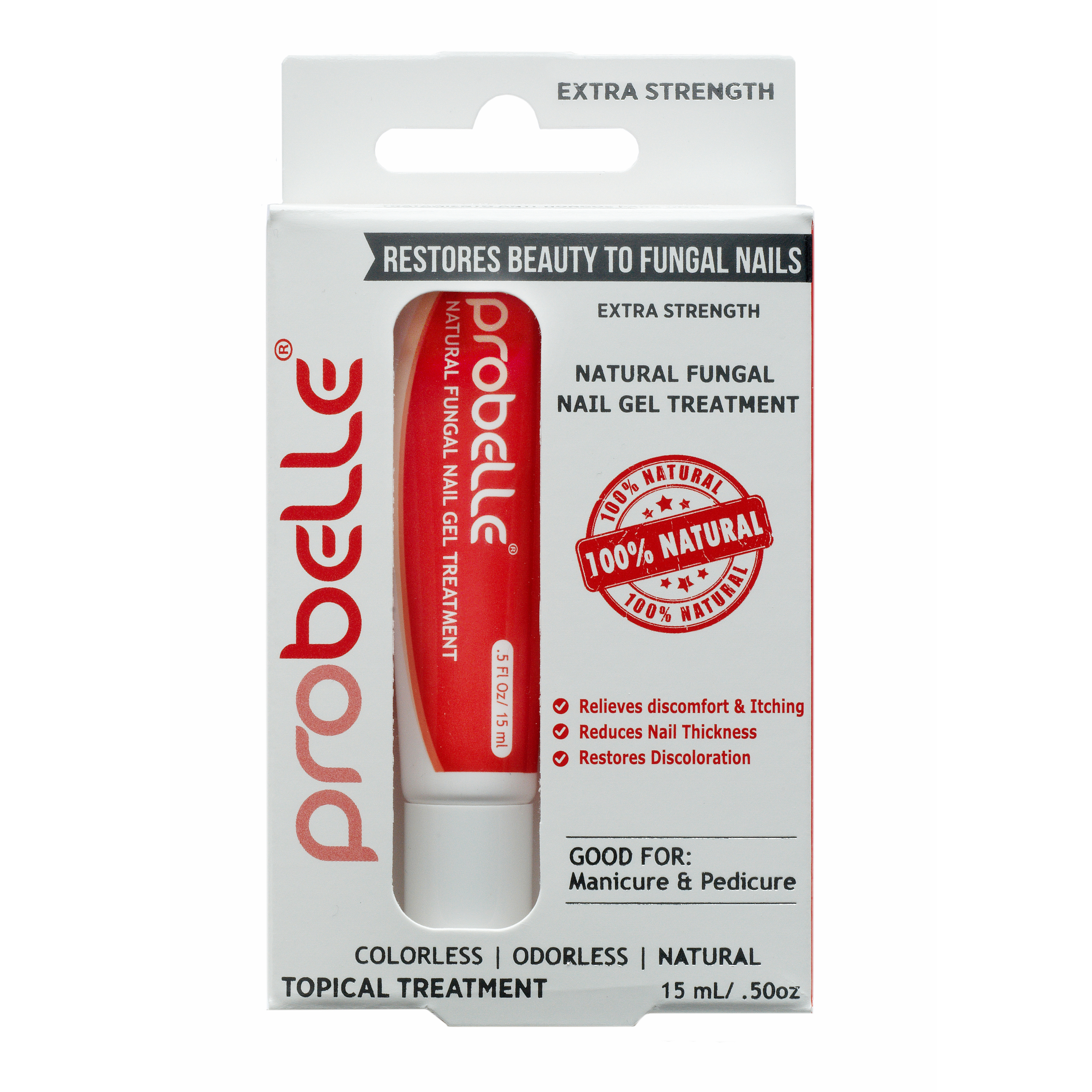 Natural Fungal Nail Gel Treatment - Extra Strength by Probelle