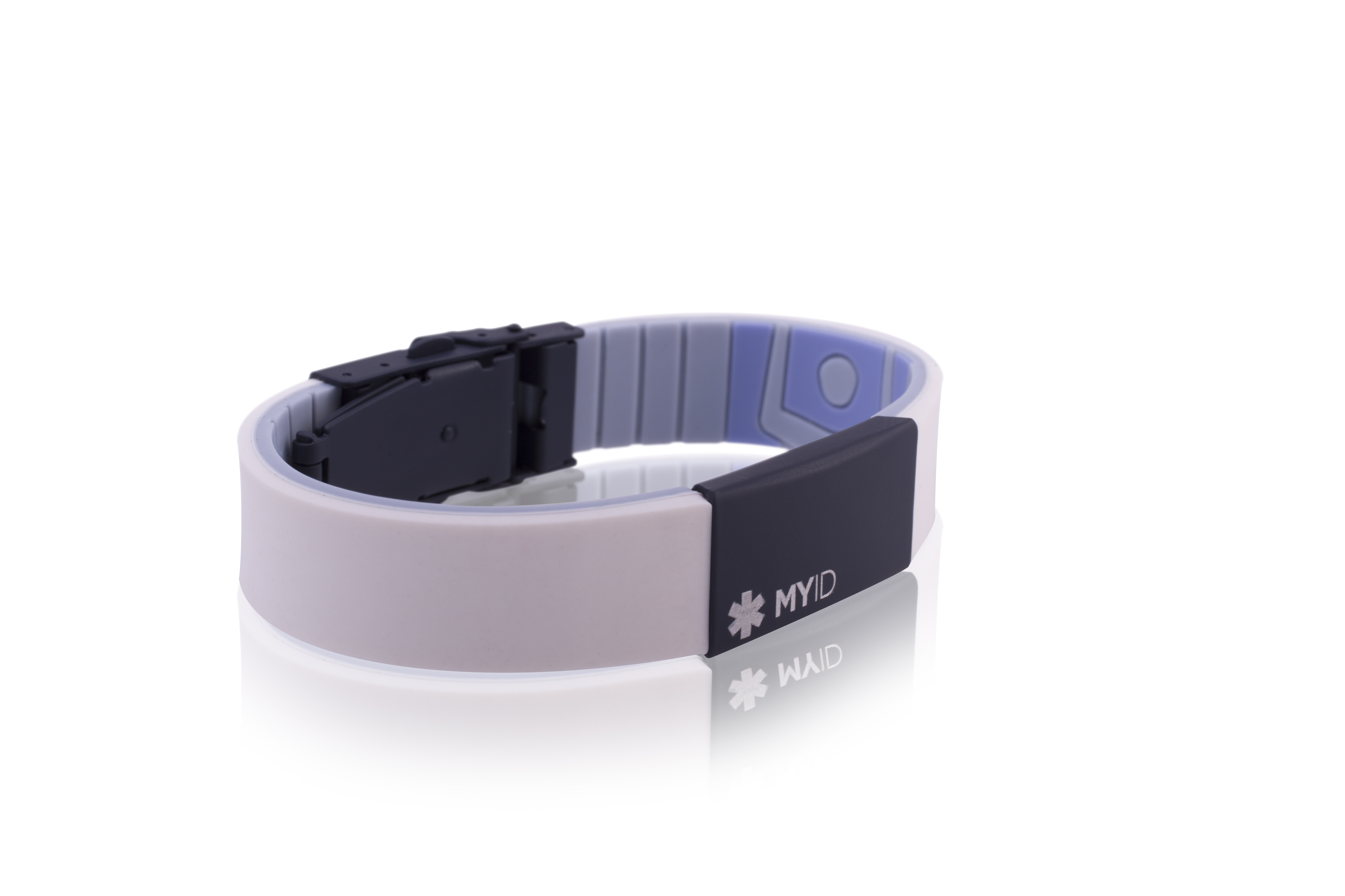MyID Sleek Series ID Bracelet-White-Navy