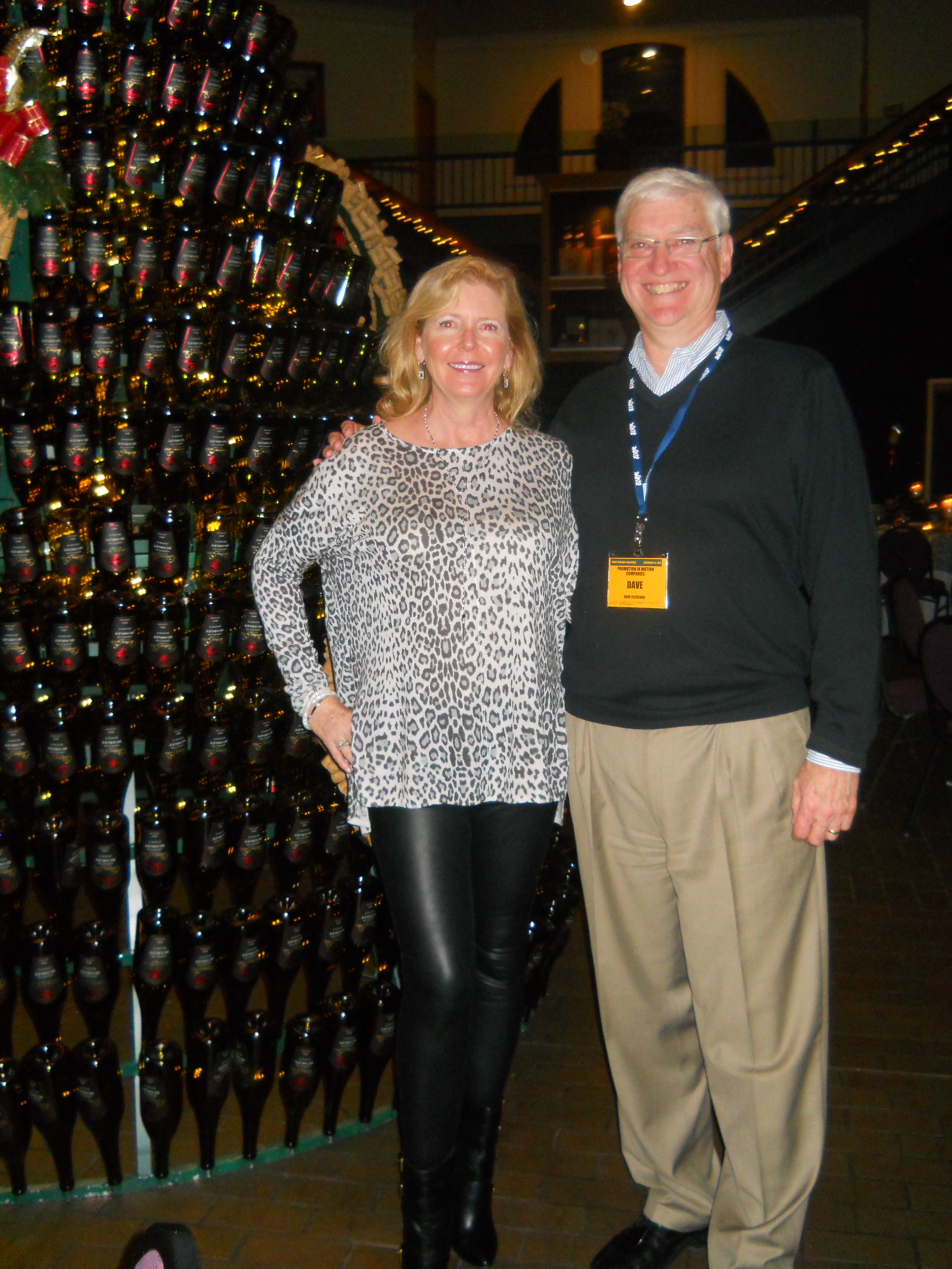 Dave Fleischer of Promotion in Motion (right) and ECRM's very own Kandi Webster pose for a picture by the tree!