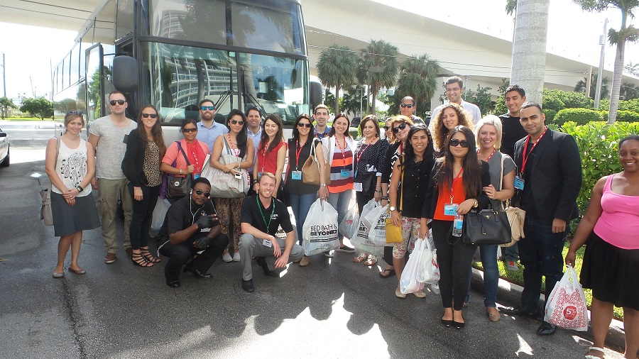 A bus load of buyers from the events spent an afternoon touring local retail stores