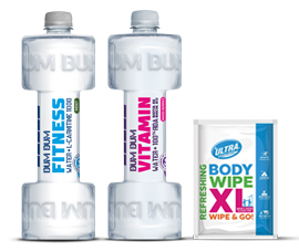 DUM DUM FITNESS WATER  & Body Wipes by Bibita