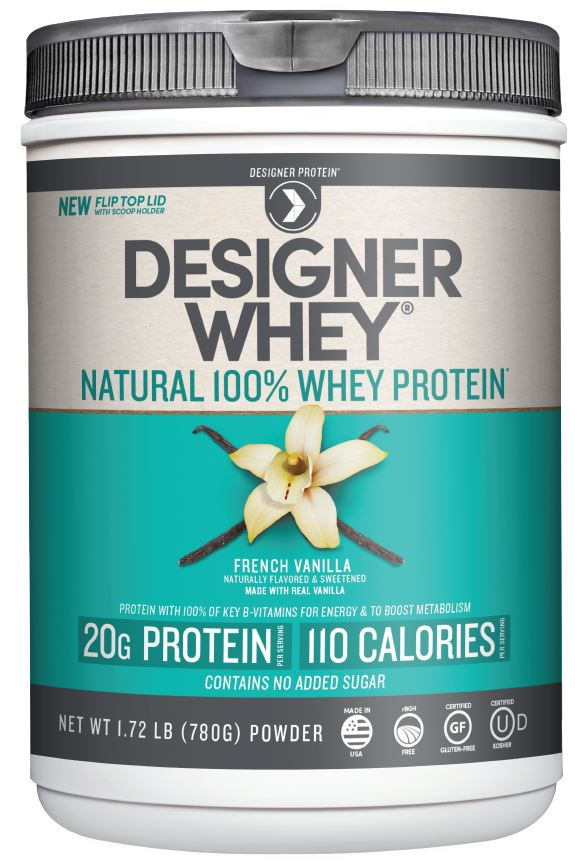NEW 20g Designer Whey Protein with flip top lid by Designer Protein