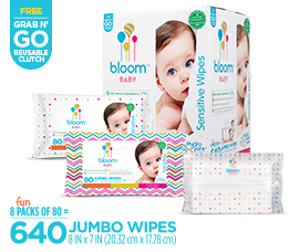 bloom BABY™ sensitive baby wipes by U.S. Nonwovens