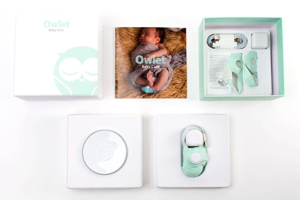 The Owlet is a Smart Sock that uses hospital technology and is designed to alert you if your baby stops breathing by Owlet