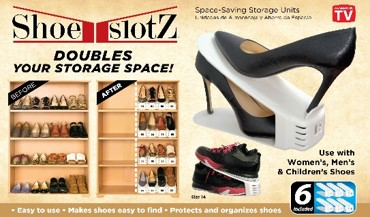 Shoe-Slotz: space-saving storage units by Blue Banana Group
