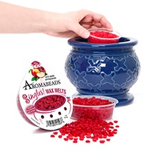 Aromabeads Singles, wax beads by Hanna's Candle Co.  They melt faster than wax melts.