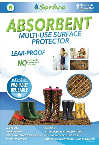 Leak-Proof Absorbent Multi Use Mat – 100% Recyclable by Sorbco