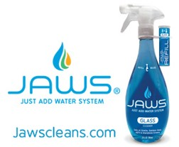 JAWS Glass Cleaner with concentrated refill pod by Canberra Corp.