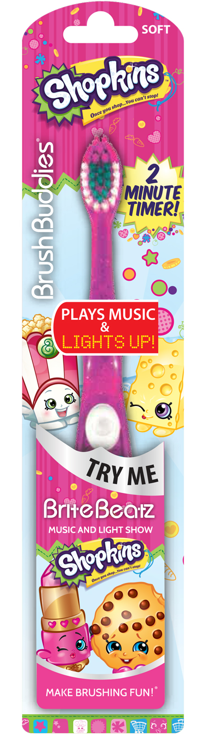 Shopkins Brite Beatz plays theme song to lights by Ashtel Dental