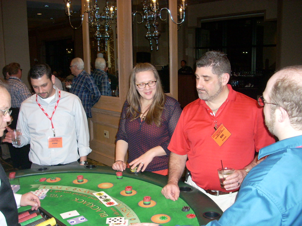 EPPS attendees looking to hit it big during casino night!