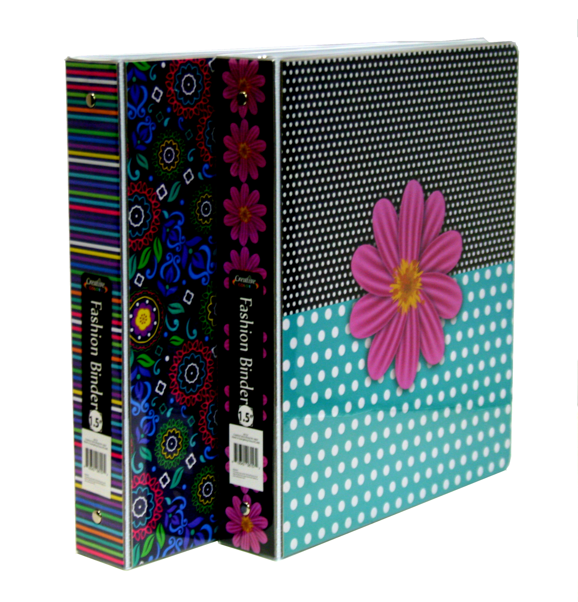 "1.5"" Fashion Binder with Inner Pockets by Bay Sales"