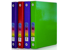 "1"" 3-Ring Glitter Tinted View Binder w/ 2-Pockets by Bazic Products"
