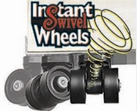 Instant Swivel Wheels. Just peel, stick & swivel. Set of 4 holds 250 lbs. by Master MFG