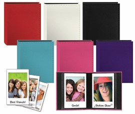 Sewn leatherette  cover album for Fuji Instax and Polaroid credit card size photos by Pioneer Photo Albums, Inc