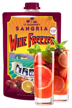 Wine Freezers & Cocktails in a Bag, natural mixers by Lt. Blender's Cocktails in a Bag