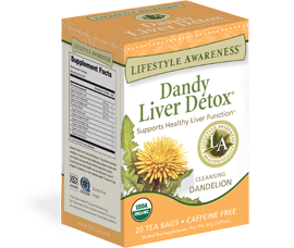 Dandy Liver Detox ® enhances optimal liver function and protection. Sip and be well by Tadin Herb & Tea Co.