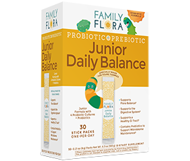 Family Flora Junior Daily Balance Probiotics + Prebiotics For Children Ages 2-14 by Americas Naturals